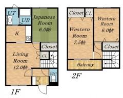 札幌 東区 賃貸 テラスハウス